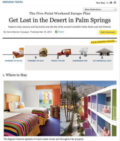 New York magazine Palm Springs