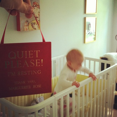 do not disturb baby sign