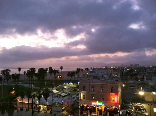 Venice Beach view at night