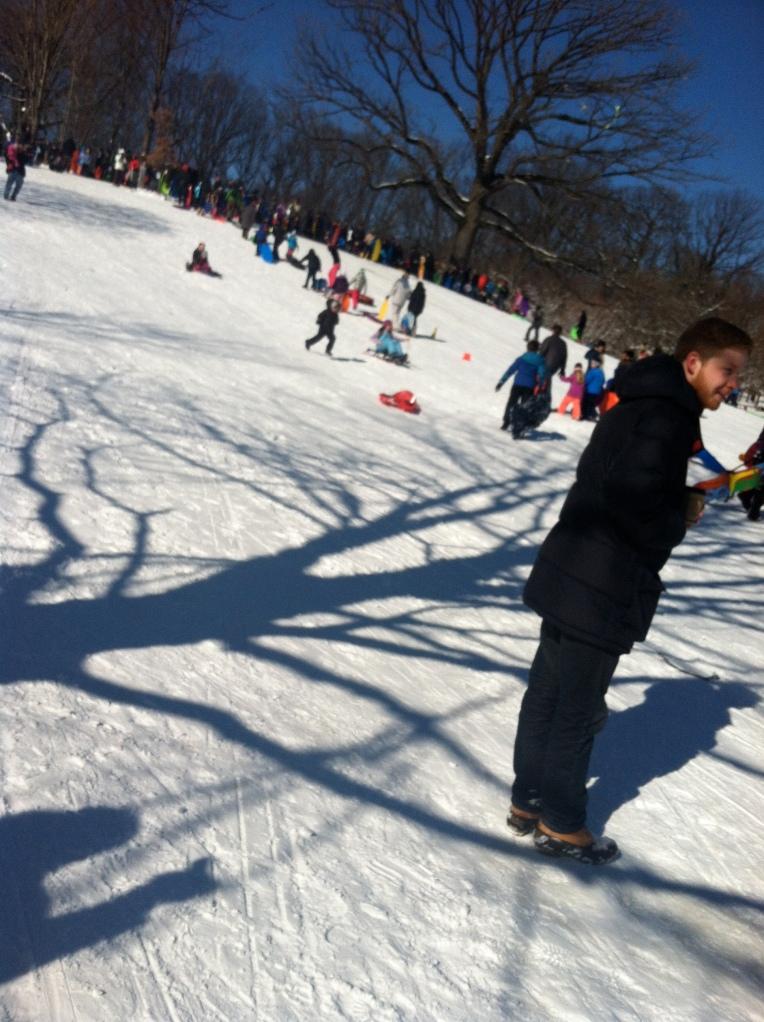 Prospect Park snow sled 2