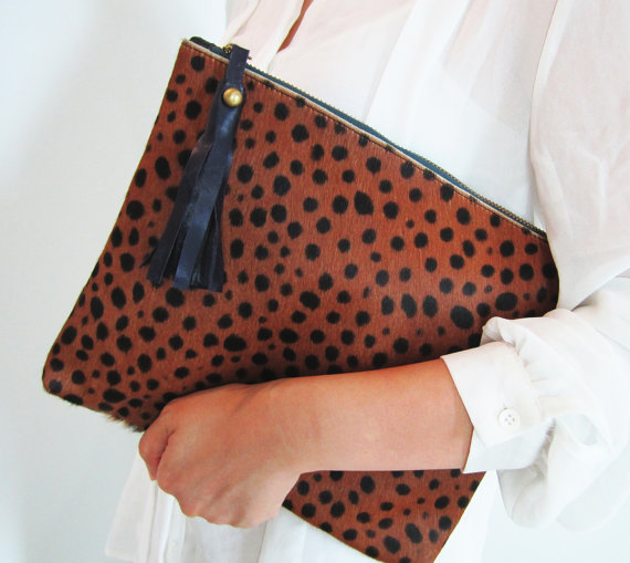leopard print zipper pouch