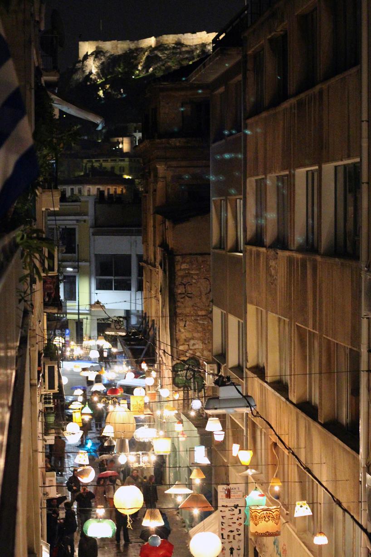 Athens light installation